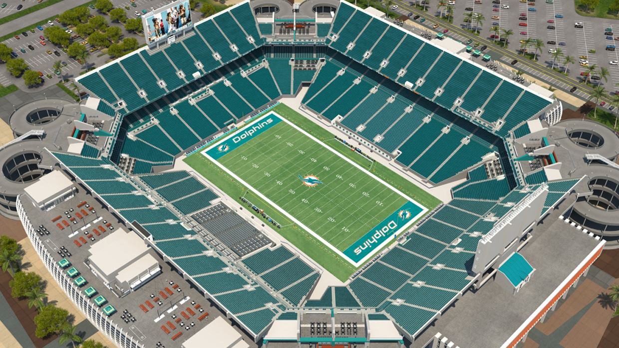 Miami dolphins virtual venue by iomedia